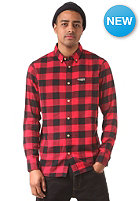 MAZINE Koloa L/S Shirt black / jester red checked