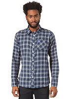 MAZINE Maurizio L/S Shirt navy / light grey checked
