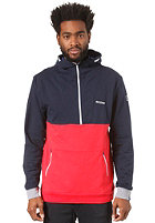 MAZINE Till Hooded Zip Sweat navy / poppy 131