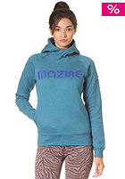 MAZINE Womens Basic Printed Hooded Sweat 02 ink blue mel.
