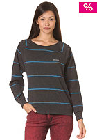 MAZINE Womens Basic Striped Sweat black mel. / ink blue