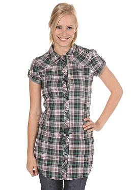 MAZINE Womens Faye S/S Shirt green/red checked