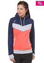 Womens Iamo Hooded Sweat cobalt/emberglow