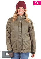 MAZINE Womens Path Hooded Jacket deep olive/woody
