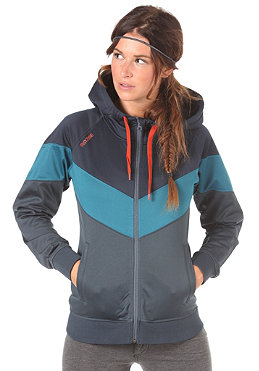 MAZINE Womens Raven Hooded Zip Tracktop Jacket night/petrol