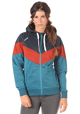 MAZINE Womens Raven Hooded Zip Tracktop Jacket petrol/night
