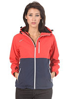 MAZINE Womens Sina Hooded Zip Windbreaker Jacket poppy/navy