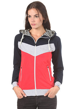 MAZINE Womens Smileyo Hooded Zip Sweat navy/poppy