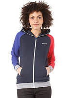 MAZINE Womens Smileyon Hooded Sweat navy / poppy