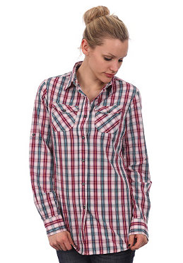MELTINPOT Womens Clorinda L/S Shirt light pink checks yarn dyed rinse wash