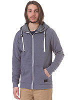 MINIMUM Fausto Hooded Zip Sweat slate blue mel