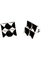 MINT 6Mm Square Stud Earrings gun metal