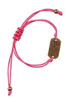 MINT Live, Love, Laugh Bracelet antique brass/fuchsia