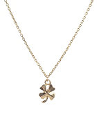 MINT Womens 4 Leaf Clover Card Necklace gold plated