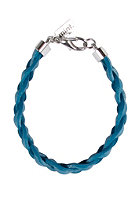 MINT Womens Big Braided Leather Bracelet blue