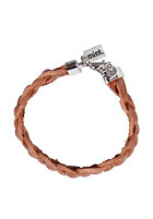 MINT Womens Big Braided Leather Bracelet mocha