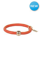 MINT Womens Big Stitch Leather Gold Bracelet orange