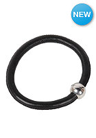 MINT Womens Big Stitch Leather Silver Bracelet black