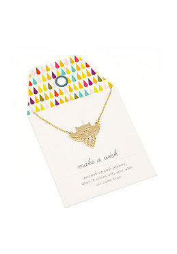 MINT Womens Boris The OWL Card Nacklace gold plated