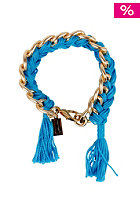 MINT Womens Chain Braided Cord Bracelet gold petrol