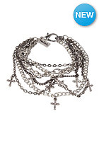 MINT Womens Cross Multi Chain Bracelet silver