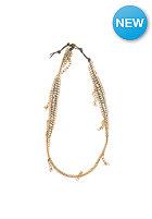MINT Womens Dangling Chain Lthr Wrap Bracelet light grey