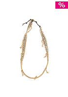 MINT Womens Dangling Chain Lthr Wrap Bracelet light grey