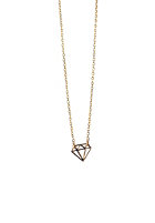 MINT Womens Diamond Card Necklace gold plated