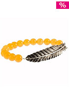 MINT Womens Feather With Stone Bracelet orange