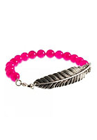 MINT Womens Feather With Stone Stretch Bracelet cerise