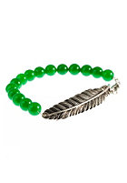 MINT Womens Feather With Stone Stretch Bracelet green