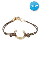 MINT Womens Horseshoe Leather Gold Bracelet bronze