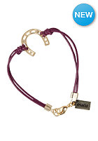 MINT Womens Horseshoe Leather Gold Bracelet maroon