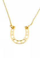 MINT Womens Horseshoe Short Necklace gold