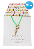 MINT Womens Key Neon Chain Necklace neon green
