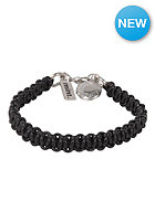 MINT Womens Leather Macrame Silver Bracelet black