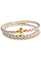 MINT Womens Loop Braided Leather Bracelet gold white