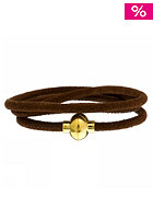 MINT Womens Loop D Loop Stitch Gold Bracelet mocha