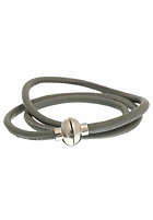 MINT Womens Loop D Loop Stitch Silver Bracelet light grey