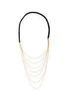 MINT Womens Multi Chain W/Lthr Back Necklace gold plated