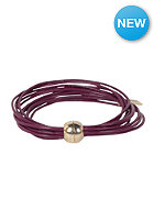MINT Womens Multi Strand Magnetic Gold Bracelet maroon