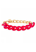 MINT Womens Neon Chain Gold Bracelet hot pink