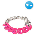 MINT Womens Neon Chain Silver Necklace hot pink