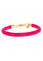 MINT Womens Neon Mesh Gold Bracelet hot pink
