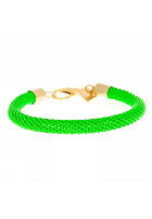 MINT Womens Neon Mesh Gold Bracelet neon green