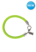 MINT Womens Neon Mesh Silver Bracelet neon yellow