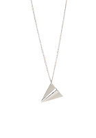 MINT Womens Paper Plane Necklace silver finishing