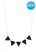 MINT Womens Pennant Metal Necklace black