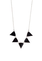 MINT Womens Pennant Metal Necklace silver -black