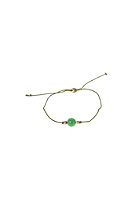 MINT Womens Single Stone Silk Bracelet gold green agate